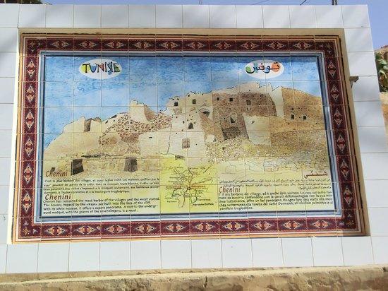 """Carthage Tours: la piantina del villaggio berbero """"Chenini"""""""