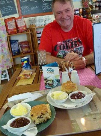 Hilltop Farm Shop: Hamish with our Cream Teas