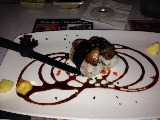 "Sansei Seafood Restaurant : Foie Gras ""sushi"""