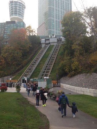 Niagara Falls Marriott Fallsview Hotel & Spa : SkyTram from the bottom