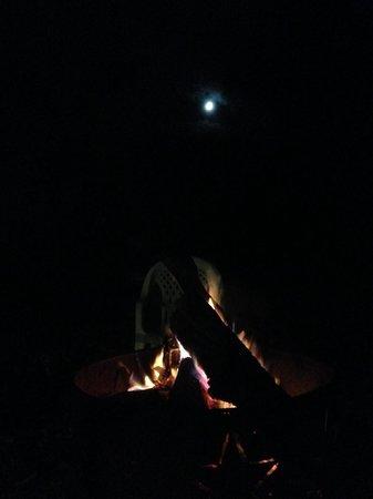 Inn At The Ridge : Campfire at night