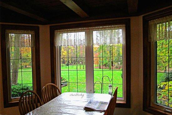 Leisure Estates Bed & Breakfast Retreat : The Breakfast Nook-bird feeder right outside the window