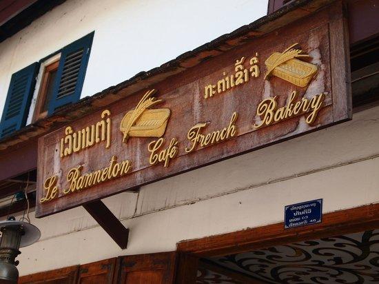Le Banneton Cafe: Вывеска