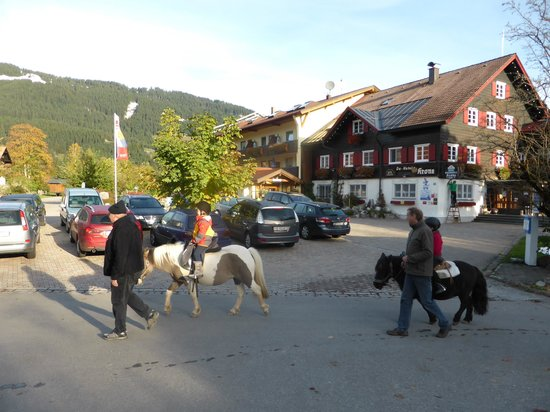 Familotel Krone: Two times poney tour around the hotel are included in kids club each week