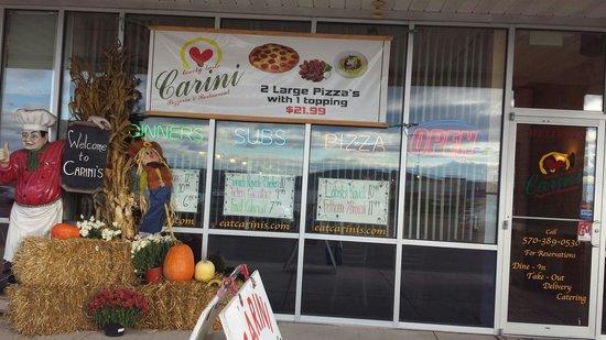 Carini Pizza Subs Restaurant Real Italian In Buckhorn Pa