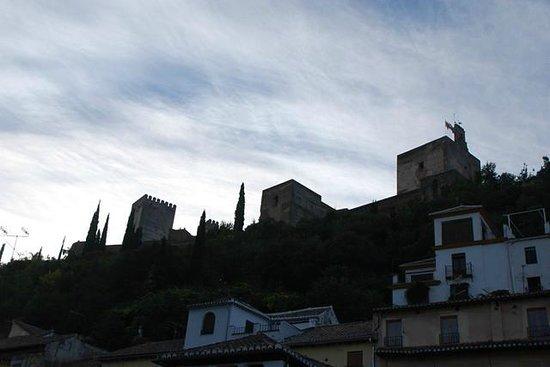 Hotel Zaguan del Darro: la Alhambra desde el balcón, de día