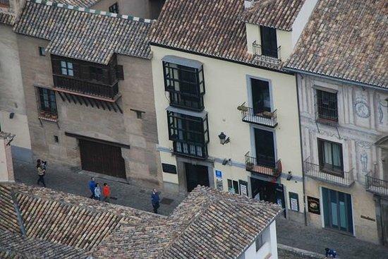 Hotel Zaguan del Darro: fachada del hotel desde la Alhambra