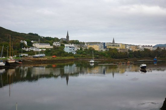 View of Clifden Harbour from the Quay House