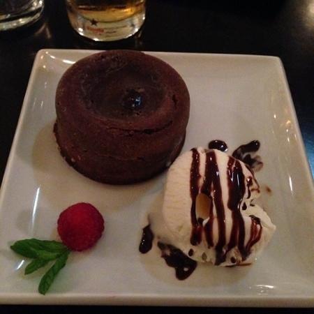 Indaba: chocolate lava cake was perfect