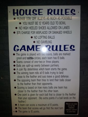how to play bowling rules