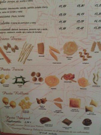 La Nicoletta Castellana : Lovely menu.