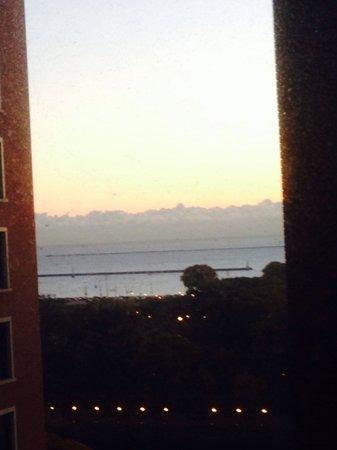Hilton Chicago : Da una finestra il lago