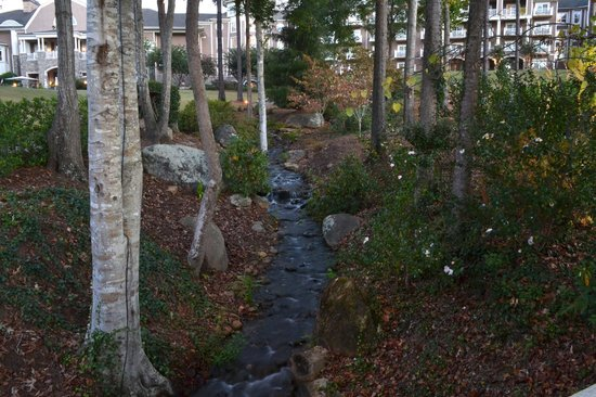 The Ritz-Carlton Reynolds, Lake Oconee: Stream flowing through green area to lake