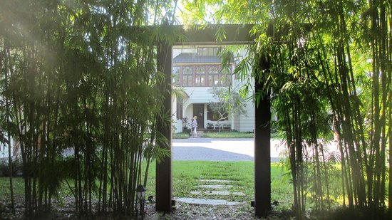 Stetson Mansion: View of house from Sophie's Garden