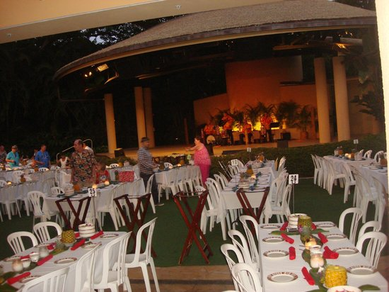 Hale Koa Luau Set Up And Stage Picture Of Hale Koa Luau