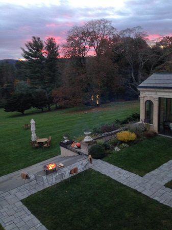 Wheatleigh: Autumn fire pit and grounds from room