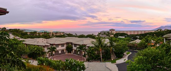 Ho'olei at Grand Wailea: Panorama from the balcony of Unit 69-2