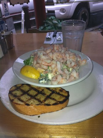 Just Jake's : Greek Ceasar small portion with shrimp and garlic toast. It's bigger than it looks.