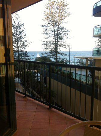 Peninsular Beachfront Resort: view from the patio, room 150