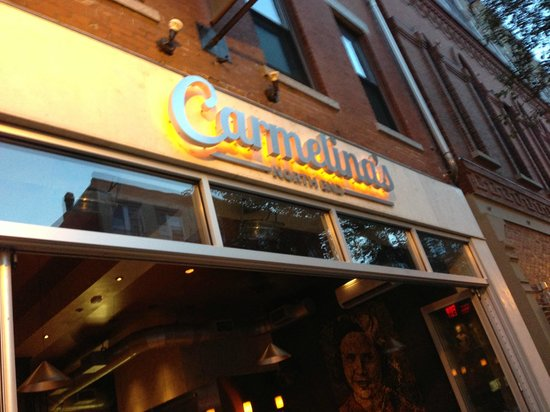Outside Signage Carmelinas 307 309 Hanover St Boston Picture