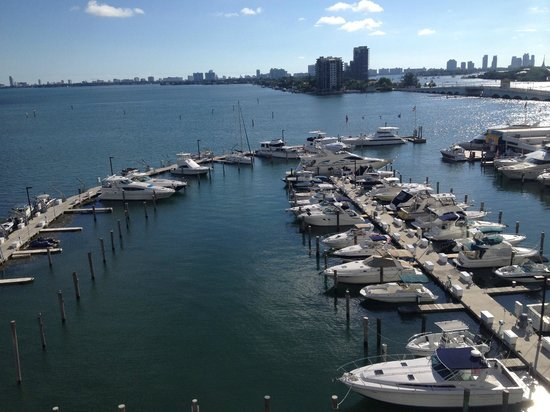 Doubletree by Hilton Grand Hotel Biscayne Bay: View from Our Hotel Room