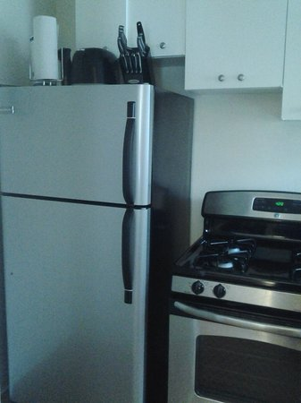 Shadyside Inn All Suites Hotel: Large Stainless Steel Refrigerator