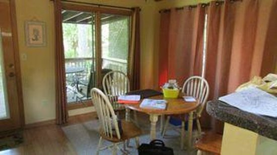 Asheville Cabins of Willow Winds : Sophias Sapphire-dining area