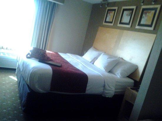 كومفرت سويتس مونروفيل: Side View of Large Bed