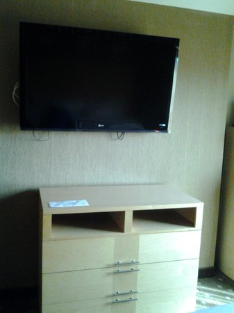 Comfort Suites : Tv on Wall in Jacuzzi Suite