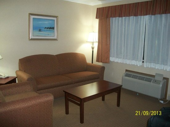 Best Western Plus Landmark Inn: Sofa in living room