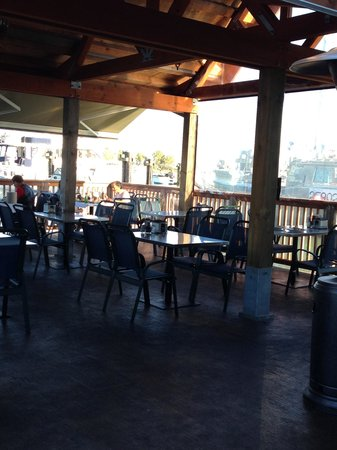 The Crab King: Outdoor Dining & View of Fishermans Wharf