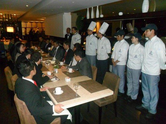 101 Park House: Al final la presentación de la Brigada de Cocina