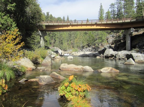 Mountain Retreat Resort, a VRI resort: Stanislaus River view, Calavera Big Trees State Park, CA