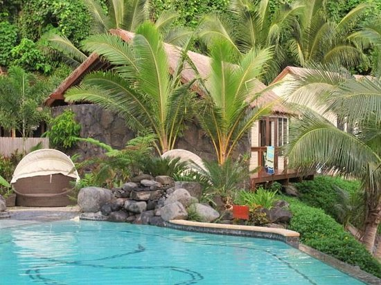 Seabreeze Resort: A Beach front Bungalow, from the pool.