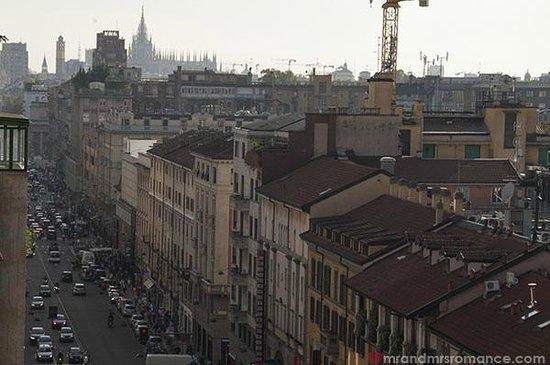 Best Western Plus Hotel Galles: Best Western Hotel Galles Milan rooftop views towards the Duomo