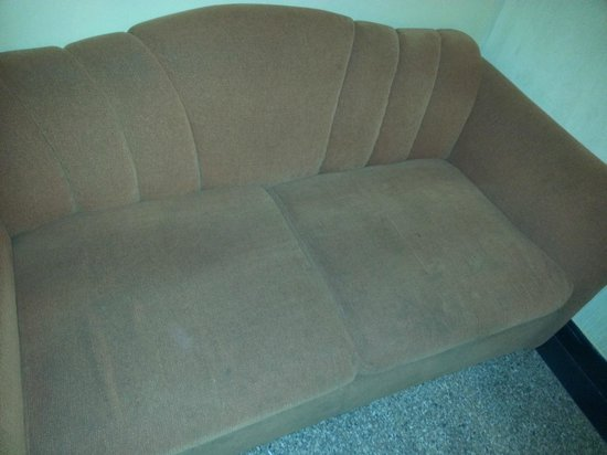 Hotel Jayshree : This grubby couch makes it a