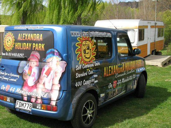 Alexandra Holiday Park: The little car which travels round the camp