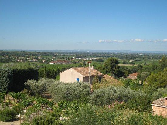 Patios des Vignes: La vue sur la vallée du Rhone
