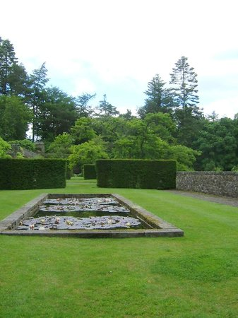 Parcevall Hall Gardens: View of terrace