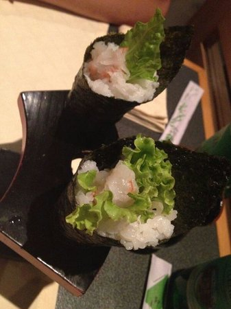 ristorante zen: Temaki gambero crudo