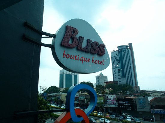 Bliss Boutique Hotel: View outside Rm