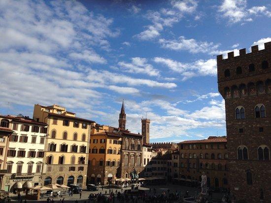 Relais Uffizi : Blick aus dem Früstücksraum