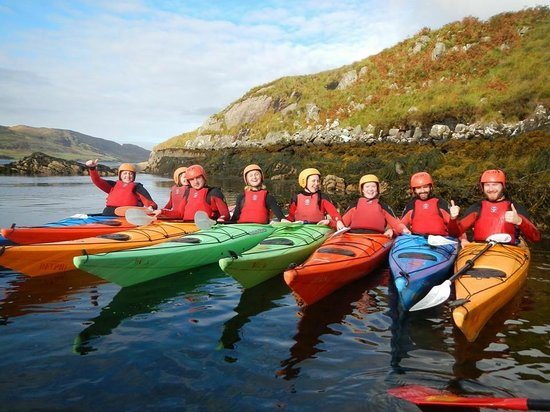 Delphi Resort: Kayaking in Killary fjord
