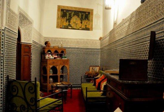 Riad Boujloud: le salon/salle à manger