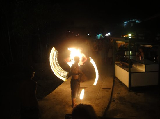 Fire dancers at the Last Bar
