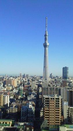 Tobu Hotel Levant Tokyo: 部屋の窓からまっすぐに見えるスカイツリー