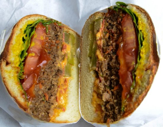 The Local Tourist NYC: A stop in our Lower East Side food tour! Tiny's Giant Sandwich Shop: Big Mack Daddy Sandwiches!