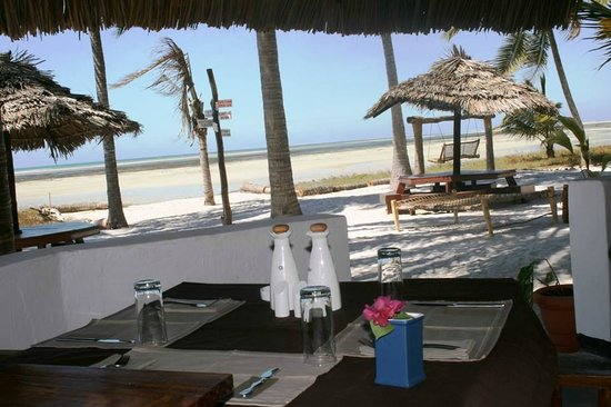 Kilwa Beach Lodge: View from the restaurant
