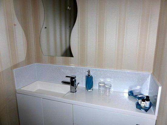 Arden House: plenty of storage in shower room