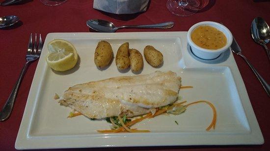 Restaurant Au pont de l'Ill : Empereur grillé sauce choron